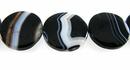 Blackline agate flatround 20x5mm thick wholesale gemstones