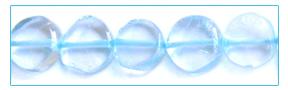 Blue Topaz Coin Beads wholesale gemstones