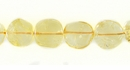 Citrine Coin Beads 8mm wholesale gemstones