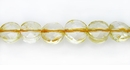 Citrine coin faceted beads wholesale gemstones