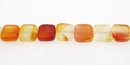 Carnelian flat square wholesale gemstones