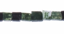 Green Moss Agate Tube wholesale gemstones