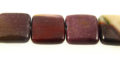 Mookaite Jasper Puffy Square Beads wholesale gemstones