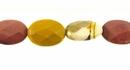 mookaite faceted flat oval wholesale gemstones