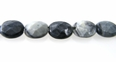 Black Picasso Jasper oval faceted wholesale gemstones