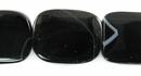 Blackline agate flat sqr wholesale gemstones