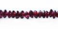 Garnet saucer beads 4mm wholesale gemstones