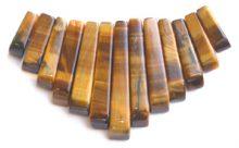 Tiger Eye tapered wholesale gemstones