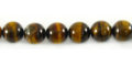Yellow tiger eye round beads 8mm wholesale gemstones