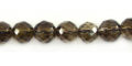 Smoky quartz faceted round 8mm wholesale gemstones