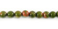 Unakite Jasper round 6mm wholesale gemstones