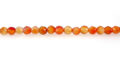 carnelian round beads faceted 6mm wholesale gemstones