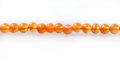 Orange carnelian bead 4mm round wholesale gemstones