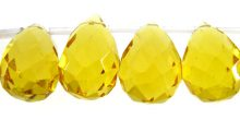 Synthetic golden citrine glass wholesale gemstones