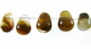Tiger iron glass Briolette beads 6x8mm wholesale gemstones