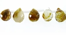 Tiger iron glass Briolette faceted 6x8mm wholesale gemstones