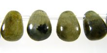 Labradorite Briolette beads 6x8mm wholesale gemstones