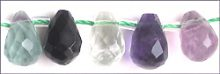 Matte fluorite faceted briollete 6x8mm wholesale gemstones