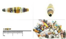 paper bead elongated 8x26-28mm wholesale beads