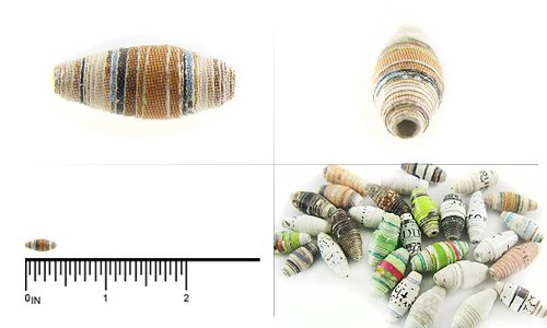 paper bead mini bicone 4mmX 9-10mm wholesale beads