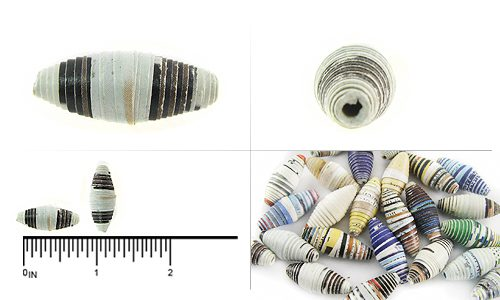 paper bead bicone 8-10mmx20-28mm wholesale beads