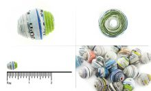 paper bead saucer assorted color 6-10mm wholesale beads