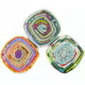 paper beads square pend multi color 22mm wholesale beads