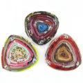 paper beads triangle pendant multicolor 22mm wholesale