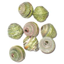 LS-Green Bicone Paper Beads 6-10mm wholesale