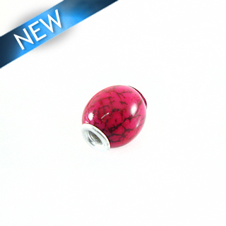 wholesale Pandora-style salwag seed 16x18mm red
