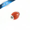 wholesale Pandora-style salwag seed 16x18mm orange