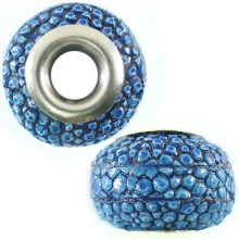Hambabalud wood Shagreen skin inlay Blue 23x15mm