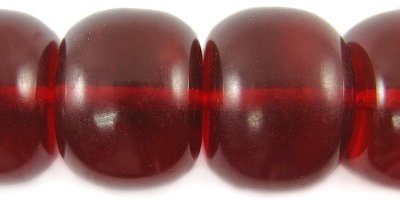 Lava red clear large roundel flat ends wholesale beads