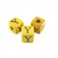 "Nangka Alphabet Wood Bead 8mm ""Y"""