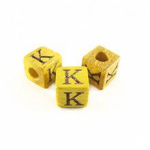 "Nangka Alphabet Wood Bead 8mm ""K"""