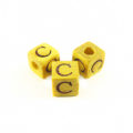 "Nangka Alphabet Wood Bead 8mm ""C"""