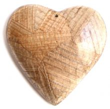 Natural Heart Banana Bark Inlay Pendant wholesale pendants