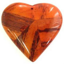 banana inlay heart pend 55mm orange wholesale pendants