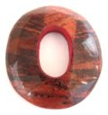 wholesale Banana inlay oval w/center hole orange pendant