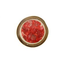Bamboo slices with capiz laminated red color 50mm