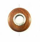 Bayong wood round 30mm metal framed center hole