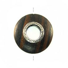 Kamagong round 30mm / A-Silver metal