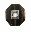 Tiger Ebony octagon design 35mm with a Silver Metal
