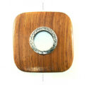 Bayong wood square metal framed center hole