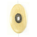 Whitewood oval 45x25mm / A-Silver metal