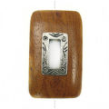 Bayong rectangle design 45x25mm / A-silver