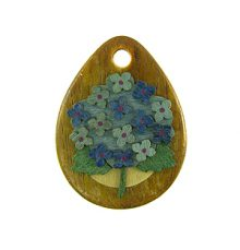 Robles wood drop with hydrangea design