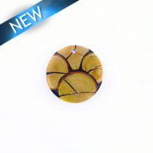 Chicos Wood Slice Inlay-Resin Back wholesale pendant