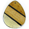 Banana and Corn Leaf Inlay Laminated Shell Pendants