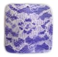 wavy square pendant lace purple